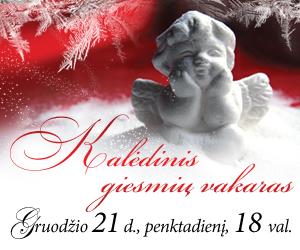Kviečiame į Kalėdinių giesmių vakarą gruodžio 21 d.